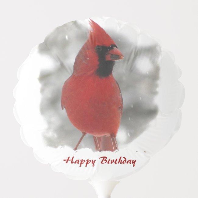 Cardinal Bird Birthday Balloon