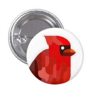 Cardinal Bird Button