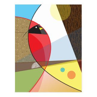 Cardinal Bird Design Postcard