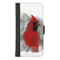 Cardinal Bird in Snow iPhone 8/7 Plus Wallet Case