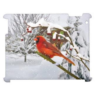 Cardinal Bird in the Snow iPad Cases