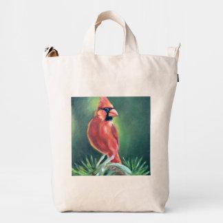 Cardinal Bird Oil painting Duck Bag