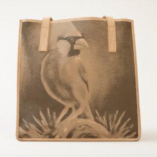 Cardinal Bird Oil painting Tote