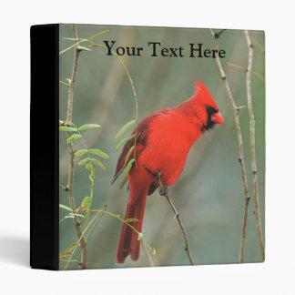 Cardinal Bird Photo 3 Ring Binder