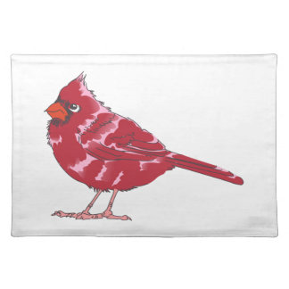 CARDINAL BIRD CLOTH PLACEMAT