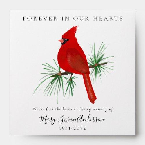 Cardinal Bird Seed Packet Memorial Funeral  Envelope