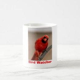 """Cardinal """"Bird Watcher"""" Mug"""