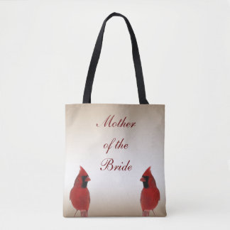 Cardinal Bird Wedding Mother of the Bride Tote Bag