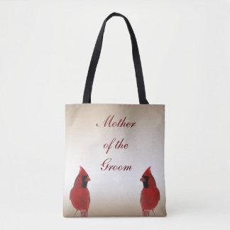 Cardinal Bird Wedding Mother of the Groom Tote Bag