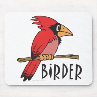 Cardinal Birder, Ornithology, Bird Watching Mouse Pad