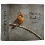 "Cardinal Birding Binder (2"")"
