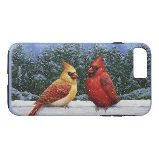 Cardinal Birds and Christmas Lights iPhone 8 Plus/7 Plus Case