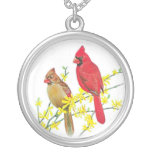 CARDINAL BIRDS PERSONALIZED NECKLACE