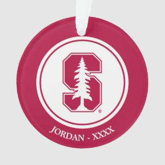 "Cardinal Block ""S"" with Tree"