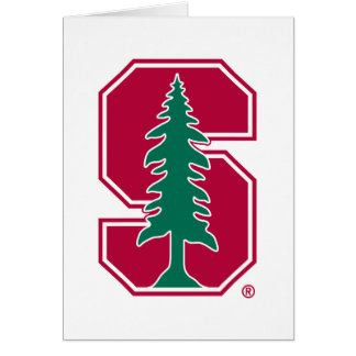 "Cardinal Block ""S"" with Tree 2 Greeting Card"