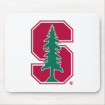 """Cardinal Block """"S"""" with Tree 2 Mouse Pad"""
