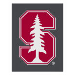 """Cardinal Block """"S"""" with Tree 3 Posters"""