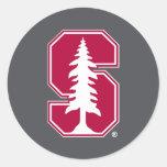 "Cardinal Block ""S"" with Tree 3 Classic Round Sticker"