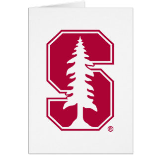 "Cardinal Block ""S"" with Tree 4 Greeting Card"