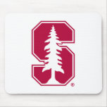 "Cardinal Block ""S"" with Tree 4 Mouse Pad"