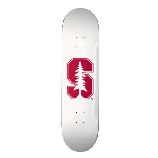 """Cardinal Block """"S"""" with Tree 4 Skate Board Deck"""
