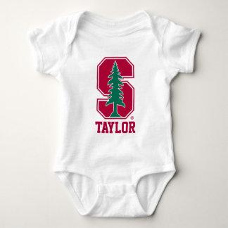 "Cardinal Block ""S"" with Tree Baby Bodysuit"