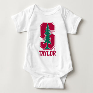 "Cardinal Block ""S"" with Tree Baby Bodysuit"