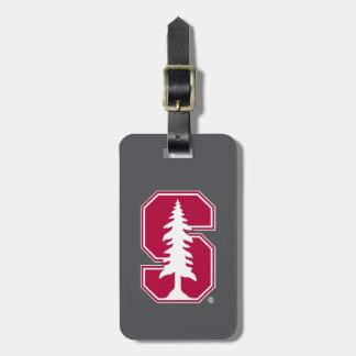 "Cardinal Block ""S"" with Tree Bag Tag"