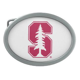 "Cardinal Block ""S"" with Tree Belt Buckle"