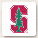"Cardinal Block ""S"" with Tree Beverage Coaster"