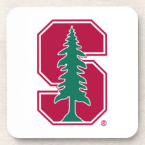 "Cardinal Block ""S"" with Tree Beverage Coaster"