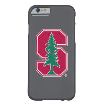 """Cardinal Block """"S"""" with Tree Barely There iPhone 6 Case"""