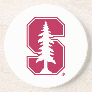 "Cardinal Block ""S"" with Tree Drink Coaster"