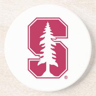 "Cardinal Block ""S"" with Tree Drink Coaster"