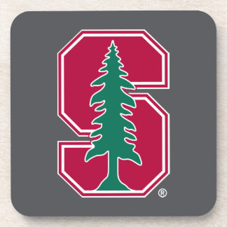 """Cardinal Block """"S"""" with Tree Drink Coasters"""