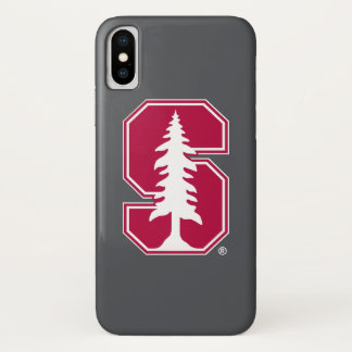 "Cardinal Block ""S"" with Tree iPhone X Case"