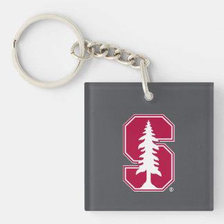"Cardinal Block ""S"" with Tree Keychain"