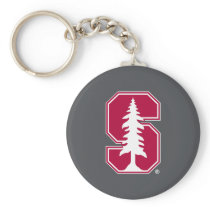 "Cardinal Block ""S"" with Tree Keychain"