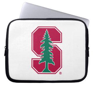 "Cardinal Block ""S"" with Tree Laptop Sleeve"