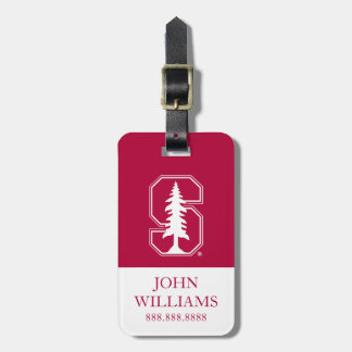 "Cardinal Block ""S"" with Tree Luggage Tag"