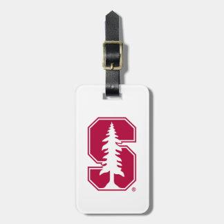 "Cardinal Block ""S"" with Tree Luggage Tag"