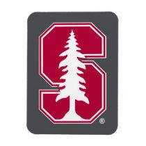"Cardinal Block ""S"" with Tree Magnet"