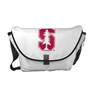 """Cardinal Block """"S"""" with Tree Messenger Bag"""