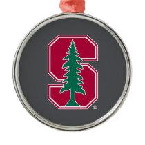 "Cardinal Block ""S"" with Tree Metal Ornament"