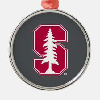 "Cardinal Block ""S"" with Tree Metal Ornament"