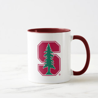 "Cardinal Block ""S"" with Tree Mug"