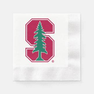 "Cardinal Block ""S"" with Tree Napkin"