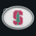 """Cardinal Block &quot;S&quot; with Tree Oval Belt Buckle<br><div class=""""desc"""">Check out these official Stanford University designs! Personalize your own Stanford merchandise on Zazzle.com! Click the Customize button to insert your own name, class year, or club to make a unique product. Try adding text using various fonts &amp; view a preview of your design! Zazzle&#39;s easy to customize products have...</div>"""