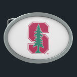 "Cardinal Block &quot;S&quot; with Tree Oval Belt Buckle<br><div class=""desc"">Check out these official Stanford University designs! Personalize your own Stanford merchandise on Zazzle.com! Click the Customize button to insert your own name, class year, or club to make a unique product. Try adding text using various fonts &amp; view a preview of your design! Zazzle&#39;s easy to customize products have...</div>"