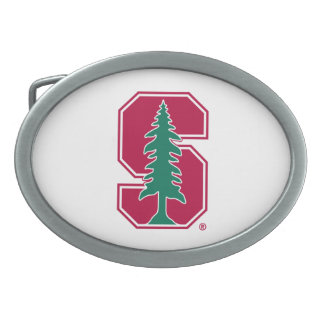 "Cardinal Block ""S"" with Tree Oval Belt Buckle"